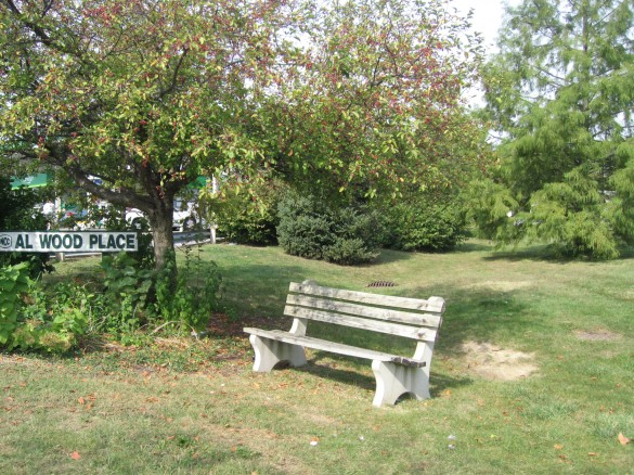 park bench building